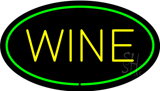 Wine Oval Green Neon Sign