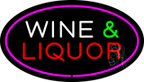 Wine and Liquor Oval Purple Neon Sign