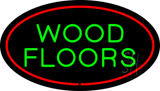 Wood Floors Oval Red Neon Sign