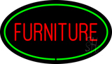 Furniture Oval Green Neon Sign