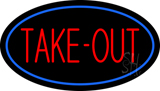 Take-Out Oval Neon Sign