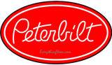 Peterbilt Logging Truck Semi Neon Sign