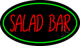 Green Border and Red Salad Bar Neon Sign
