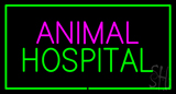 Animal Hospital Green Rectangle Neon Sign