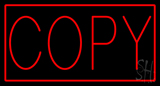 Red Copy with Red Border Neon Sign