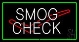 Smog Check Logo Green Rectangle Neon Sign