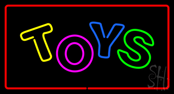 Toys Rectangle Red Neon Sign