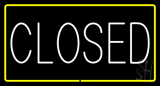Closed Rectangle Yellow LED Neon Sign