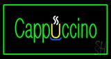 Cappuccino Rectangle Green Neon Sign