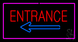 Entrance Rectangle Pink Neon Sign