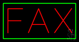 Red Fax Green Border Neon Sign