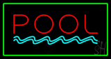 Pool Rectangle Green Neon Sign