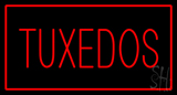 Tuxedos Rectangle Red LED Neon Sign
