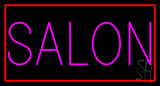Pink Salon with Red Border Neon Sign