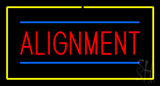 Alignment Yellow Rectangle Neon Sign