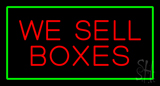 We Sell Boxes Rectangle Green Neon Sign