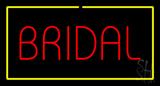 Bridal Rectangle Yellow Neon Sign