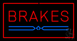 Red Brakes Rectangle Neon Sign