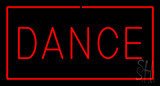 Red Dance with Red Border Neon Sign