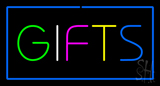 Gifts Blue Rectangle Neon Sign