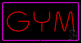GYM Rectangle Purple Neon Sign