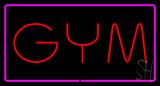 GYM Rectangle Purple LED Neon Sign