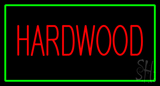 Hardwood Rectangle Green Neon Sign