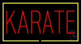 Karate Rectangle Yellow Neon Sign