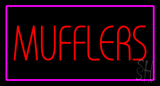 Mufflers Purple Rectangle Neon Sign