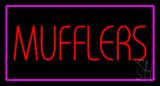 Mufflers Purple Rectangle LED Neon Sign
