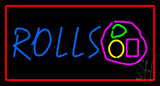 Rolls Red Border Neon Sign