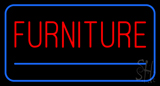 Furniture Rectangle Blue Neon Sign