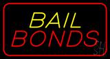 Bail Bonds Red Border Neon Sign