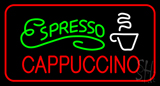 Green Espresso Red Cappuccino with Red Border Neon Sign