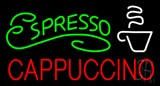 Green Espresso Red Cappuccino Logo Neon Sign
