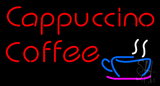 Red Cappuccino Coffee Neon Sign