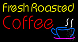 Yellow Fresh Roasted Coffee Neon Sign