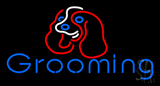 Dog Blue Grooming Neon Sign