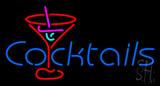 Cocktail Neon Sign with Red Cocktail Glass