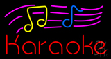 Karaoke with Musical Notes LED Neon Sign