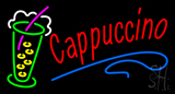 Red Cappuccino Logo Neon Sign