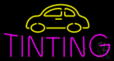 Yellow Car Pink Tinting Neon Sign