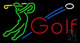 Man playing Golf Neon Sign