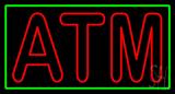 Double Stroke ATM Green Border Neon Sign