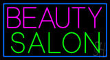 Pink Beauty Salon Green with Blue Border Neon Sign