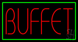 Buffet with Green Border Neon Sign