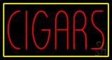 Red Cigars with Yellow Border Neon Sign