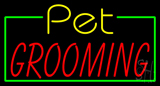 Yellow Pet Red Grooming LED Neon Sign