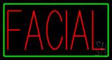 Red Facial Green Border Neon Sign