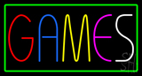 Games with Border Neon Sign